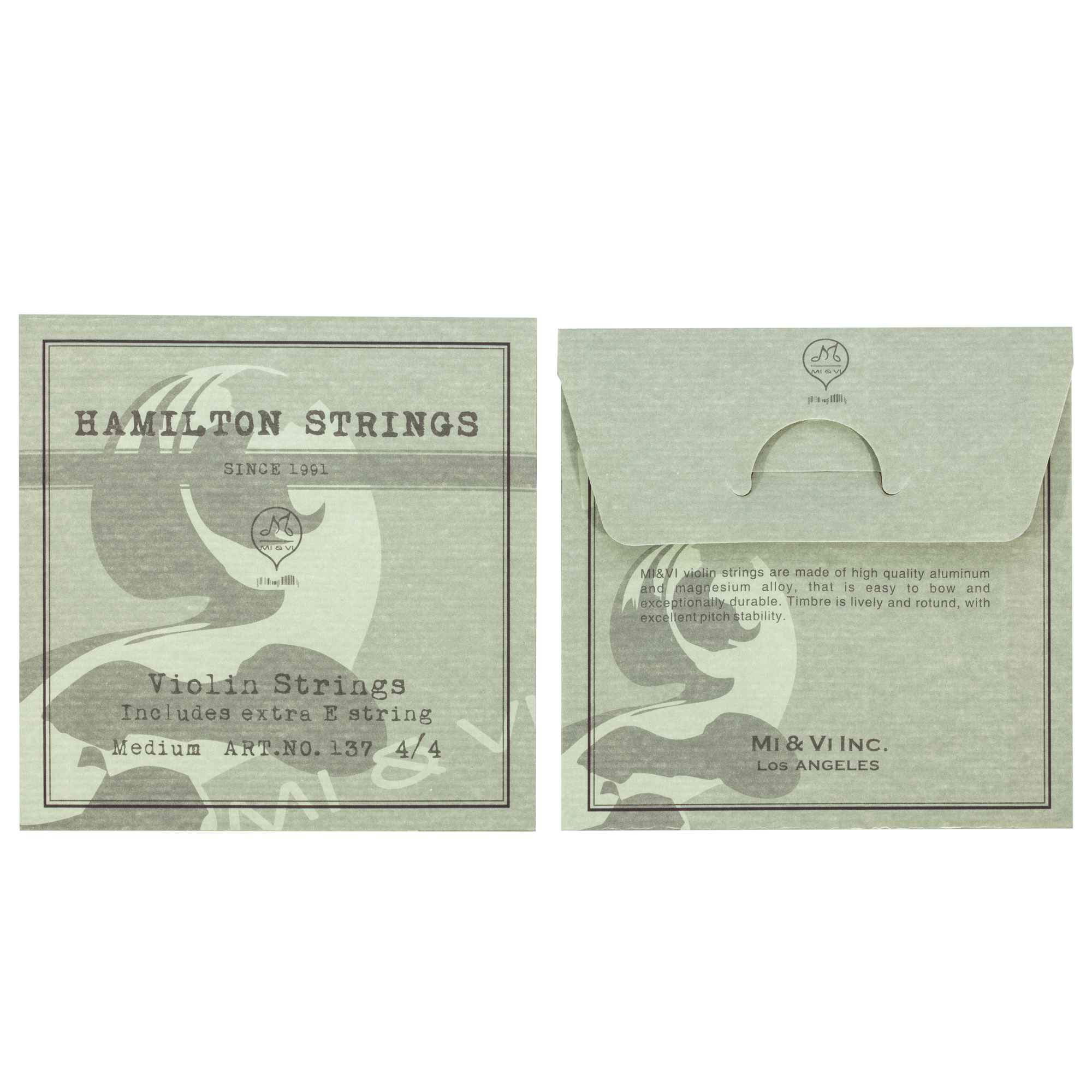 By MIVI Music G-D-A-E Ball-End Hamilton Violin Strings Universal Full Set 4//4 Scale Germany Steel with Extra E-String Medium Gauge Tension